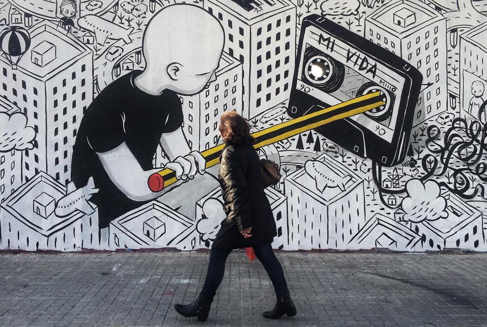 Opera dello street artist Millo, nel blog lo intervisto